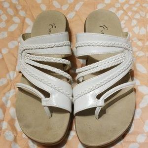 Wear ever white slip on sandal